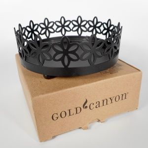 """Gold Canyon Black Metal Posy 4"""" Candle Holder"""